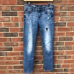 Gap Girlfriend Skinny Distressed Jeans W-24 Reg.
